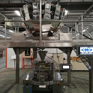 VFFS HIGH SPEED PACKING MACHINE WITH MULTI HEAD WEIGHER PACKING MACHINE FOR MELON SEEDS AND DATES PACKAGING ZL180A